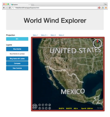 Example Web WorldWind Page