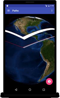Paths-WorldWind Android/NASA WorldWind